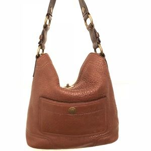 Textured Leather Coach Purse